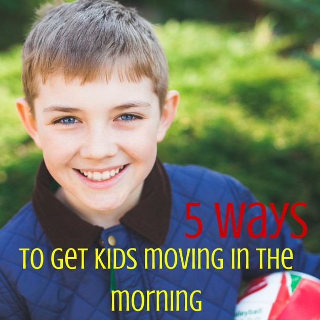 get kids moving in the morning